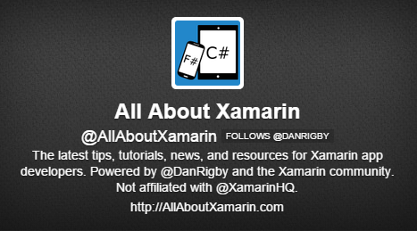 AllAboutXamarin on Twitter