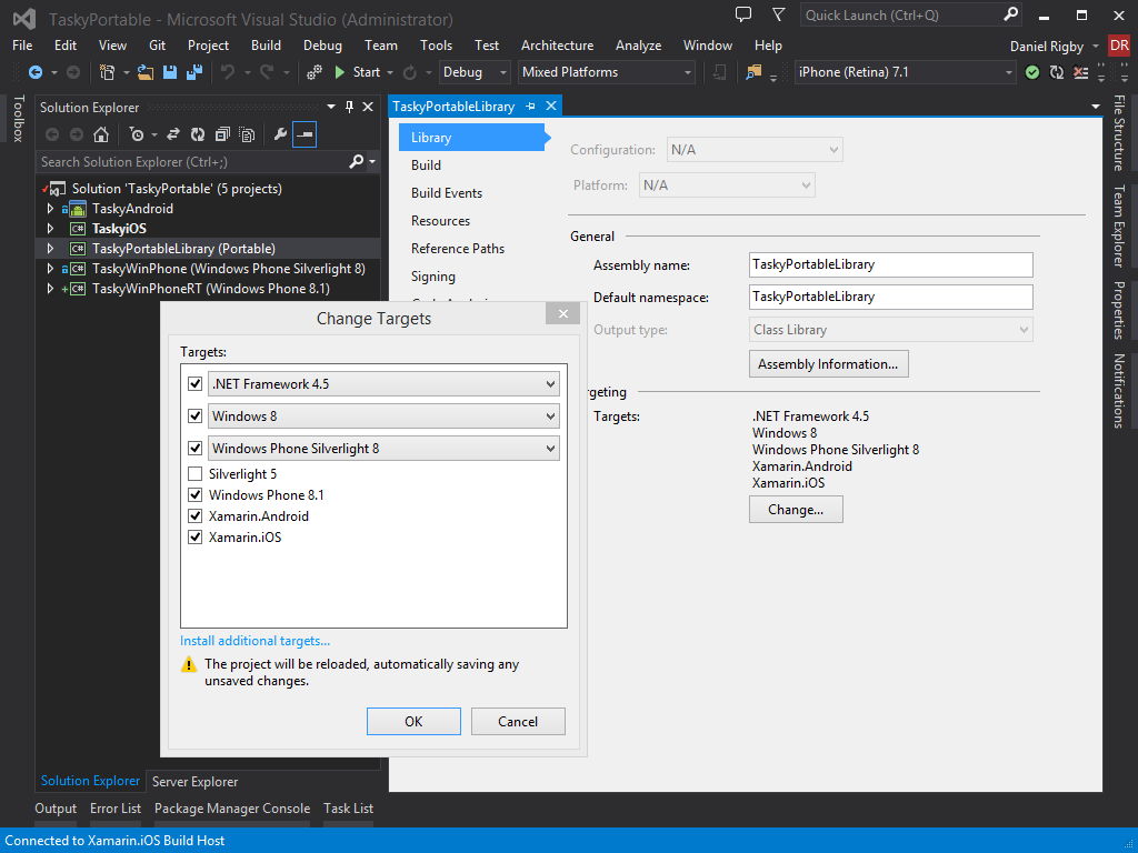 Fix for Creating PCLs in Visual Studio That Target Windows