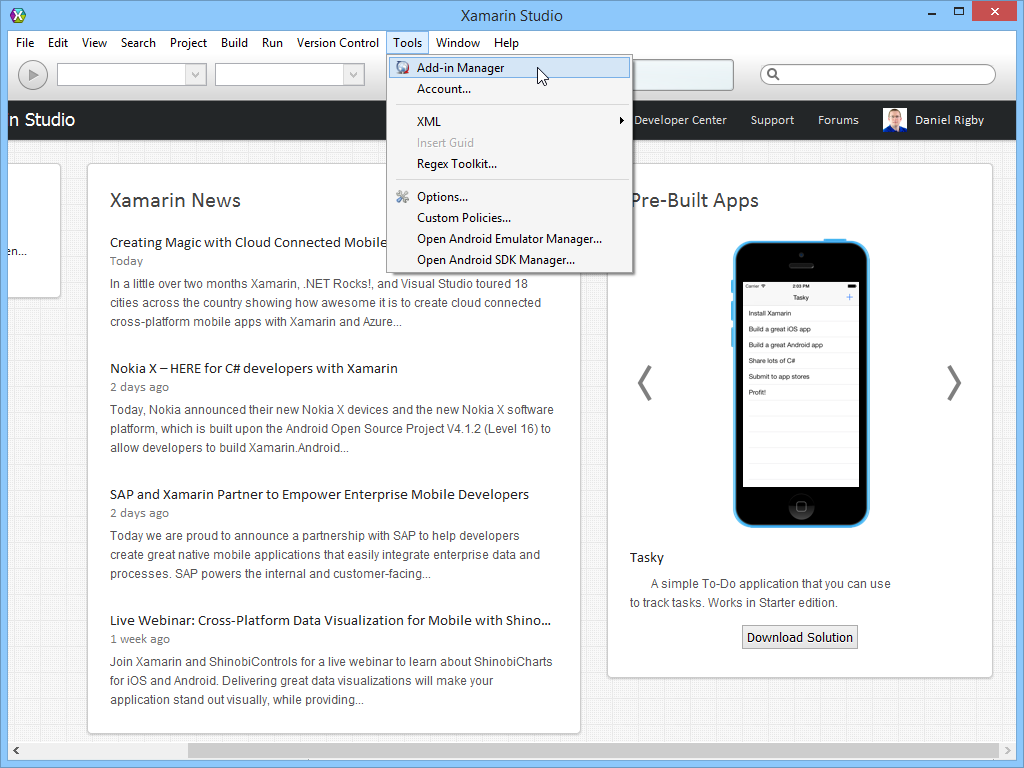 NuGet for Xamarin Studio Step 1